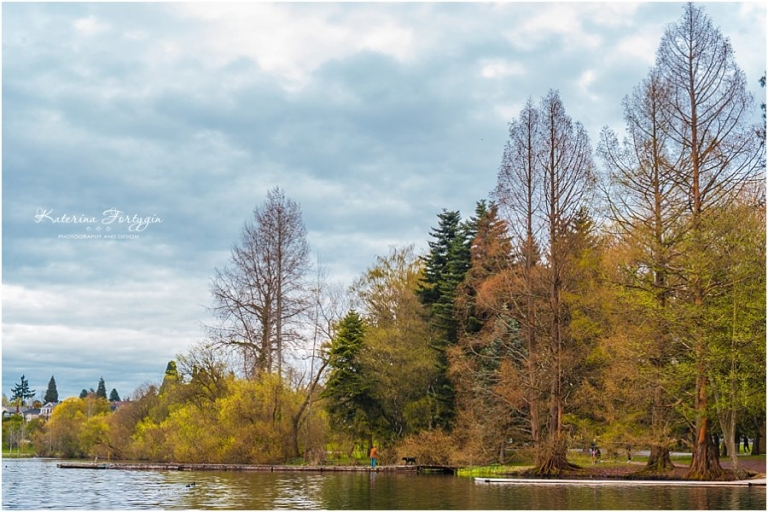 Beautiful Spring Nature at Green Lake by Katerina Fort